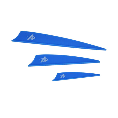30pcs 2//3//4inch Archery Rubber Vane Arrow Feather Shield DIY Recurve Bow Hunting