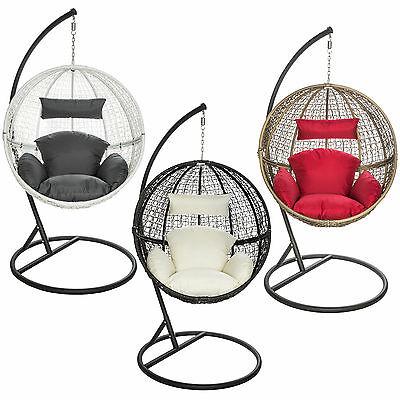 Chaise hamac avec support fauteuil suspendu de jardin balancelle transat