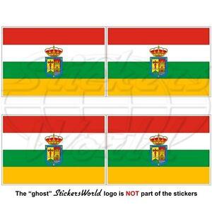 Detalles De La Rioja Bandera Espana Comunidad Autonoma Espanola Bandera Pegatinas 50mm X4 Ver Titulo Original