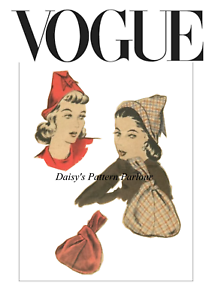 Vintage Vogue Sewing Pattern 1950 Hat Bag Cloche Daisys 9837 1950s 50s