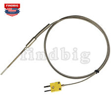 K Type Thermocouple Sensor High Temperature Stainless Steel Insertion Probe Ht02