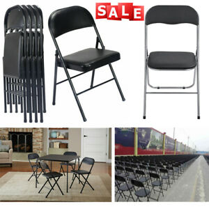 Black Commercial Quality Stackable Plastic Folding Chair