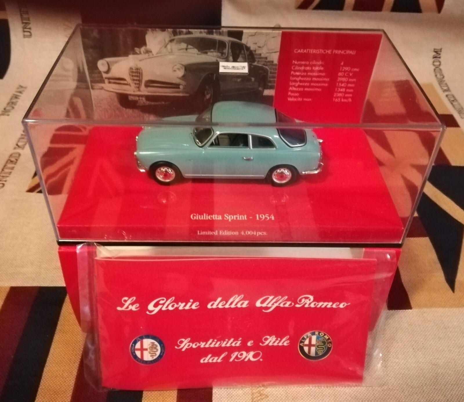 1 43 MINICHAMPS 403 120403 Alfa Romeo Giulietta Sprint 1954 Light blu Spark BBR