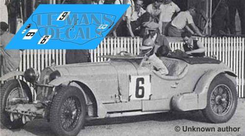 Decals Alfa Romeo 8C 2300 Le Mans 1934 6 9 1:32 1:43 1:24 1:18 slot calcas