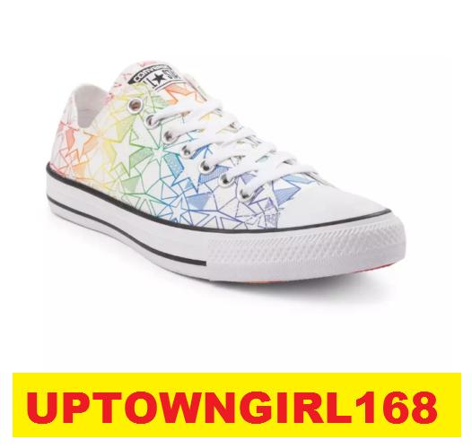 Converse Chuck Taylor ALL STAR Lo Pride Star shoes LGBT US Women Sz 6.5 8.5 New