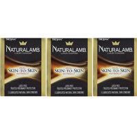 3 Pack - Trojan Naturalamb Natural Skin Lubricated Condoms 3 Each on sale