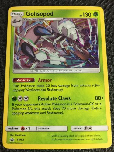 SM CRIMSON INVASION 1PK BLISTER GOLISOPOD SM52 POKEMON TCG
