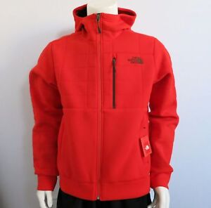 THE-NORTH-FACE-Men-039-s-Spacer-Hoodie-Fleece-Jacket-Paprika-Red-sz-S-L-XL