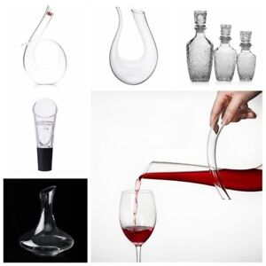 Lead-free-U-shaped-Crystal-Glass-Horn-Red-Wine-Decanter-Wine-Pourer-Container