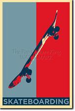 Skateboarding Arte Foto Print (Obama esperanza) Poster Regalo Patineta
