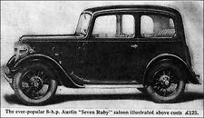 Austin Ruby Carpet Set  Austin Seven + other car makes