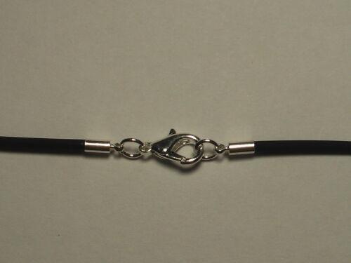 Kautschukkette 2 mm Halskette Karabinerverschluß Kette juwelierqualität *TOP*