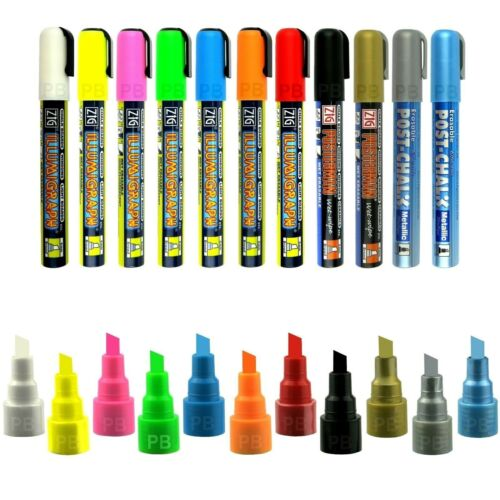 Farben 2-6mm Kreidemarker PMA-510   11 versch Illumigraph Kreideschreiber 5mm