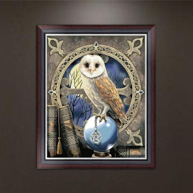 Genial DIY 5D Diamond Embroidery Owl Painting Cross Stitch Home Office Decor Craft