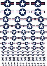 Scale U.S Model Plane Emblems Exterior Vinyl Decals Stickers Various Scales USA