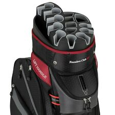 Founders Club Premium Cart Bag with 14 Way Organizer Top - Charcoal