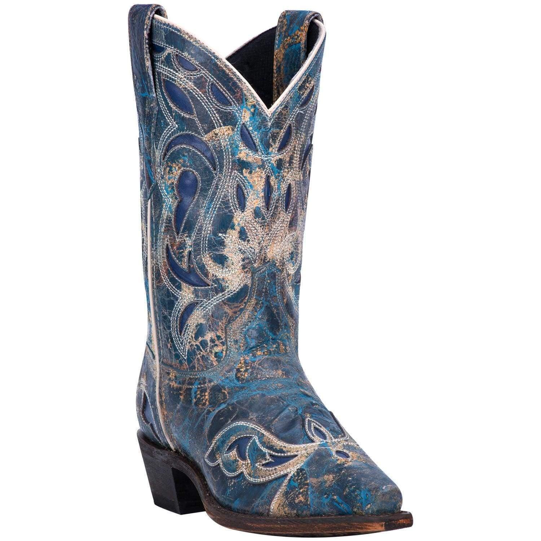 Laredo Women's No More Drama bluee Western Boots 3126 Snip Toe