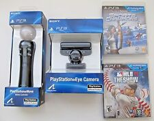 Playstation 3 Move Motion Controller with Eye Camera Webcam PS3 Bundle w Game