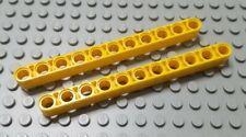 Yellow Technic 32525 NEUF Liftarm 1x11 Thick LEGO x 2