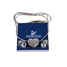 New! Swarovski Crystal Heart Pendant and Earrings Set 1044445