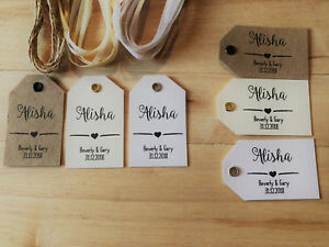 Image Is Loading Individually Personalised Place Name Tags Wedding Party Labels