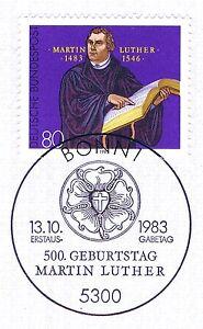 2019 Nouveau Style Rfa 1983: Martin Luther Nº 1193 Avec Propre Bonner Ersttags Cachet Spécial! 1812-stempel! 1812fr-fr Afficher Le Titre D'origine