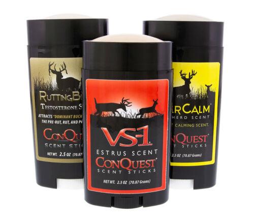 Conquête des parfums de chasseurs Trio Bundle Outdoor EVERCALM Cerf Troupeau Stick VS-1 ES...
