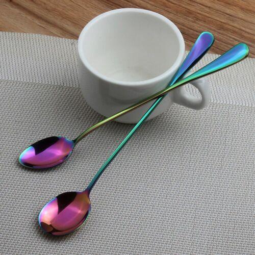 Acier Inoxydable Arc-en-cuillères cuisine Couverts Coloré Dessert Vaisselle Set