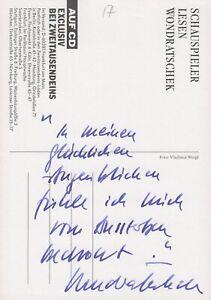 WOLF WONDRATSCHEK --- original signiert - A4#17