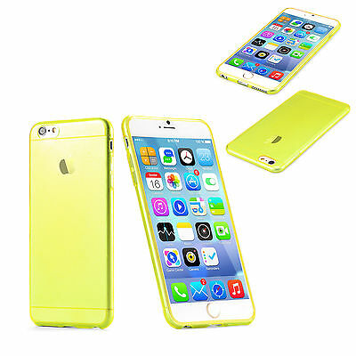 Coque COULEUR Iphone 6 etui Apple silicone gel HAUTE QUALITE  + 1 FILM CADEAU