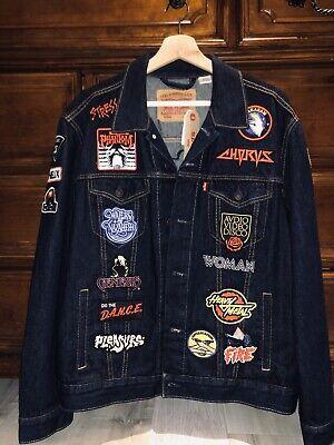 Vintage Rare Justice Ed Banger Levis Woman Tour Jacket Patches Rince Large Denim Ebay