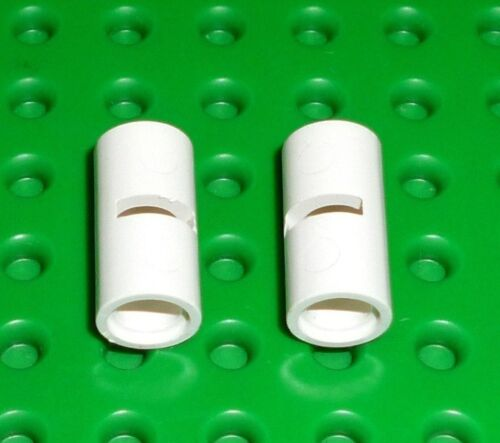 2 x LEGO Technic White Pin Joiner Round ref 62462 for sets 7675 10212 9497...
