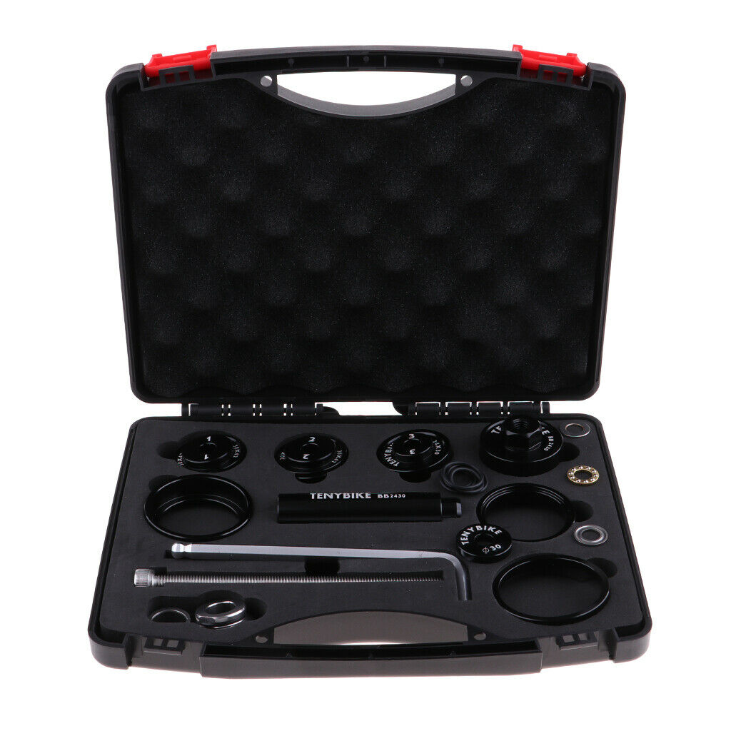 Perfeclan Bike Headset Cup Bearing Installer Removal BB Press Kit with Case