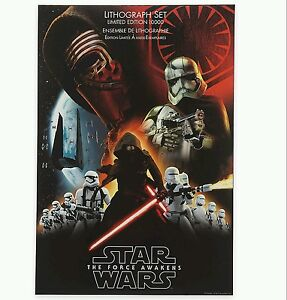Disney Store Exclusive Limited Edition Star Wars Lithograph 4 pc Set Prints NEW