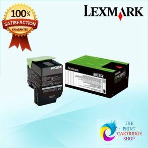 New-amp-Original-Lexmark-808SK-80C8SK0-Black-Toner-Cartridge-CX510de-CX410de-2-5K