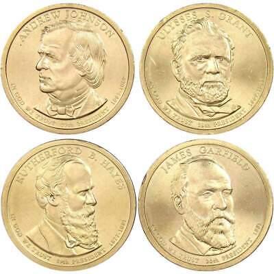 Uncirculated BU 4 Coins 2012 All 4 Presidential D Dollars