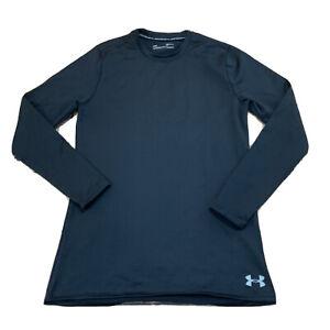 Under-Armour-Mens-Coldgear-Baselayer-Shirt-Size-Medium-Black-New-NWT-B229