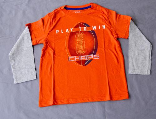 ORANGE NEW SIZES Chaps Boys Printed T Shirt 2,3,4,5,6 /& 7  YEARS