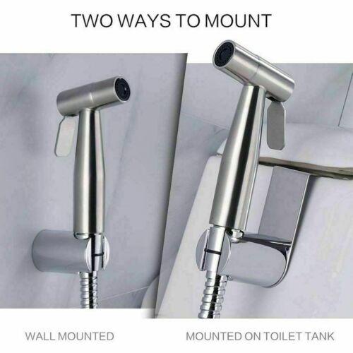 Stainless Steel Handheld Bidet Sprayer Shower Toilet Shattaf Adapter Hose kit BC