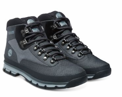 Homme TIMBERLAND Boot Euro Hiker Mid Jacquard Chaussures A135T Gris Taille UK 12.5 | eBay