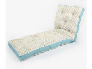 MACKENZIE-CHILDS-PARCHMENT-CHECK-Retired-REVERSIBLE-OUTDOOR-CHAISE-CUSHION-NEW