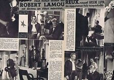 Coupure de presse Clipping 1956 Robert Lamoureux   (2 pages)