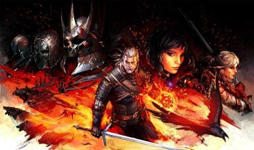 Poster 42x24 cm The Witcher 3 Wild Hunt Geralt De Rivia Ciri Yennefer 01