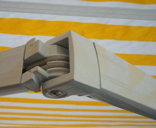 Gelenkarmmarkise Sonnenschutz 2,5x2m Polyester grau Alu-Markise MCW-E49