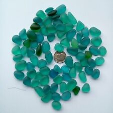 Sea Beach Glass mixed color Bulk Blue Green Jewelry Pendant Decor Use 12-18mm