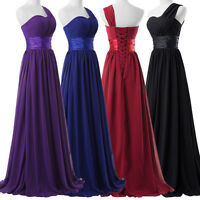 Long Chiffon Bridesmaid Wedding Cocktail Evening Formal Party Prom Maxi Dress ++