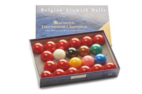 ARAMITH TOURNAMENT CHAMPION MATCH 2 1/16 (52.5mm) SEALED BOX SNOOKER BALLS