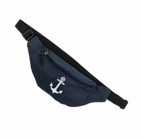 Bauchtasche Anker Jeans Gürteltasche Hüfttasche Tasche Umhängetasche Thema See
