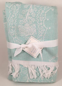 Pottery-Barn-Kids-Paisley-Throw-Blanket-in-BLUE-So-Soft-NEW-with-TAGS