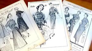 3 Rare Franz Original 50erj Schnittmuster Patron Damen Kleider 48 Schnittmuster Nähen